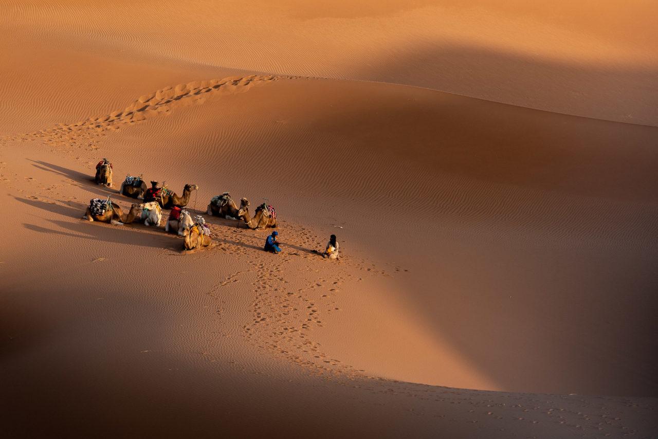 Karawane in Marokko